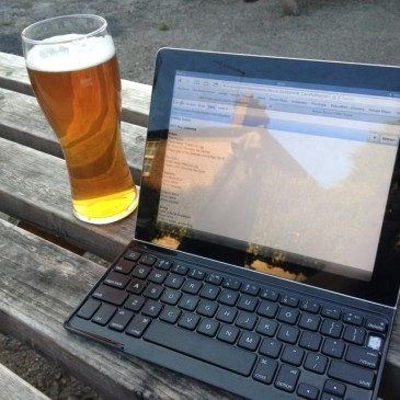 beer and writing