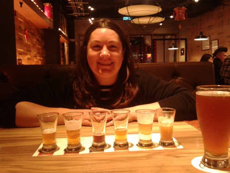 beer sampling at jolly brewery, taipei